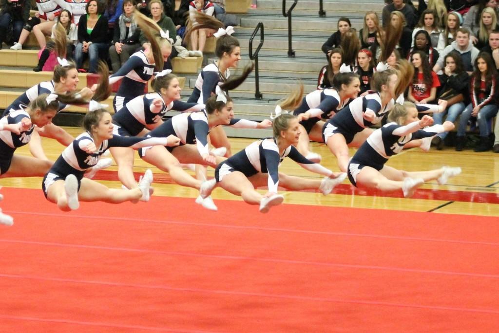 Cheer team battles through injuries, rule changes
