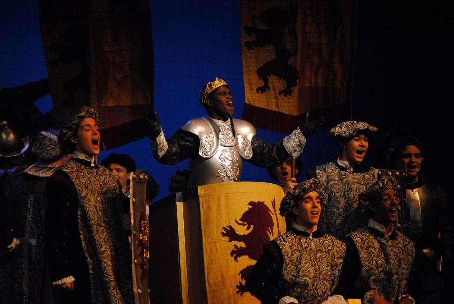 Junior Corey Barlow played the role of Prince Topher, who falls in love with Cinderella.
