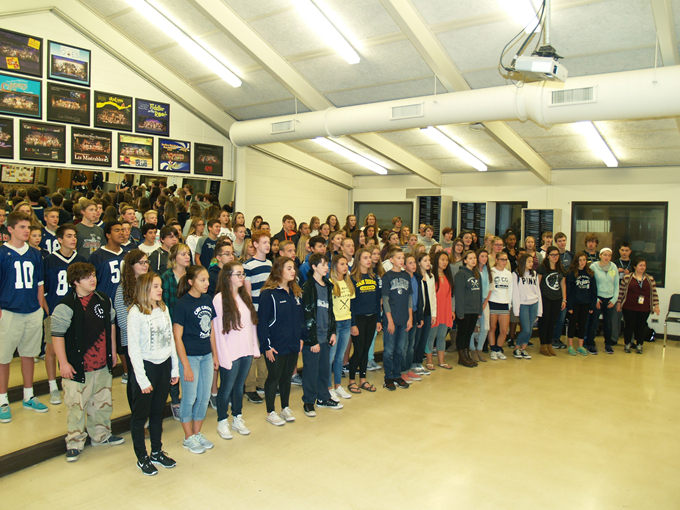 Choir freshmen hit record enrollment