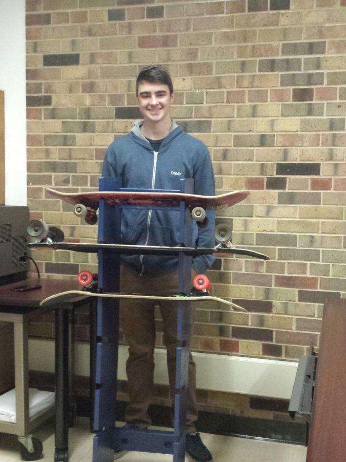 Senior+Galanos+creates+skateboard+rack+for+CG+students